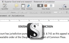 Scrivener for lawyers